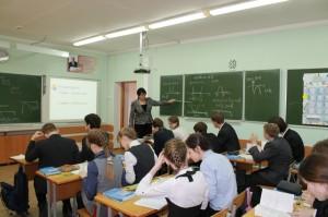 на уроке математики учитель математики Кугуелова Ольга Николаевна